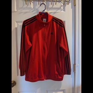 3/$25 🎉 Adidas Red Three Stripe Track Jacket